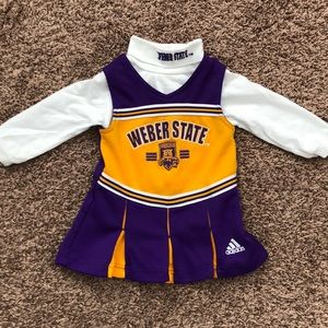 Weber State cheerleader outfit